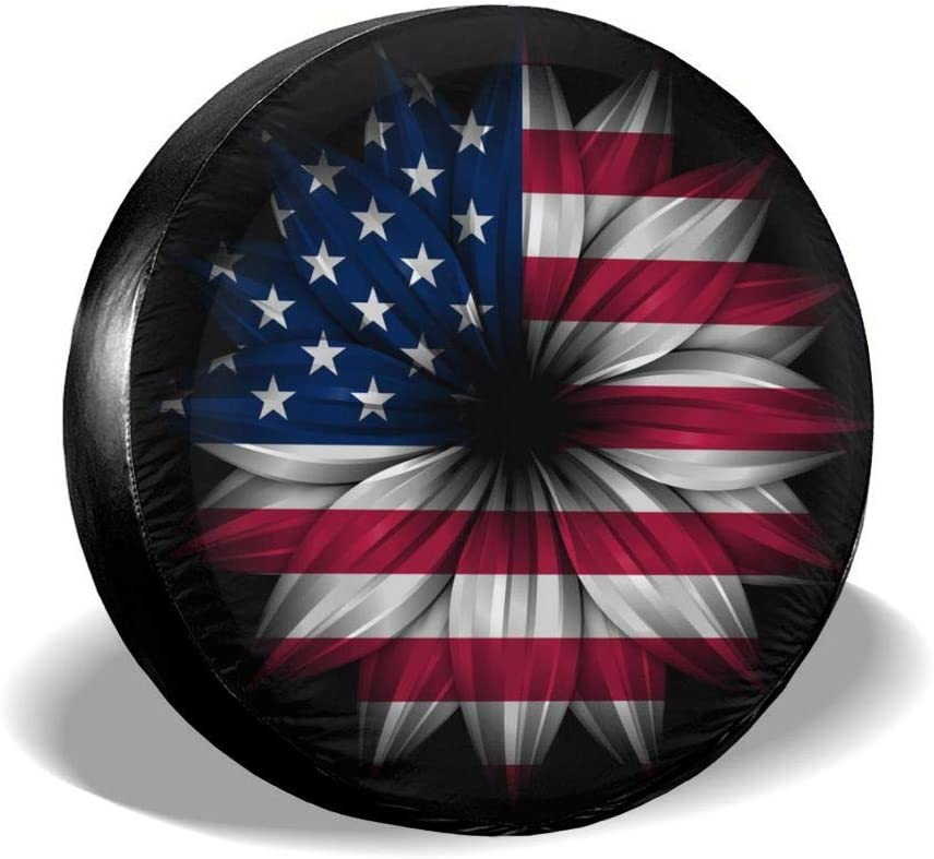Wheel Covers Sun Protector Waterproof, 14 Inch for Diameter 23-27 Delerain Eagle USA Flag Spare Tire Covers for RV Jeep Trailer SUV Truck and Many Vehicle