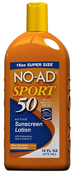 NO-AD Sport Active Sunscreen Lotion, SPF 50 16 oz