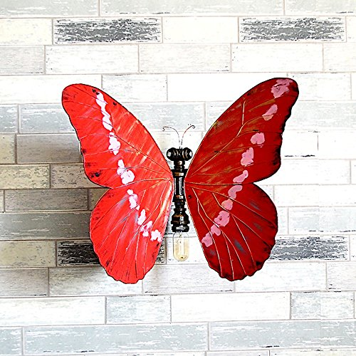 Industrial Wind Wall Lamp Personalized Water Butterfly Wall Lamp DIY Creative Metal Decorative Lighting Corridor Aisle Lighting Road by JYKJ