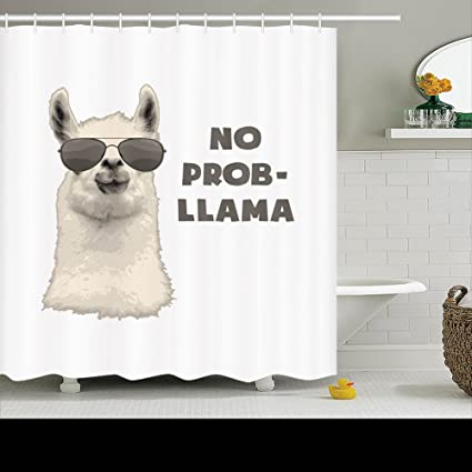 Amazon.com: Family Unique Decorative Custom Xmas Shower Curtains No on llama health, llama jewelry, llama lamas easter, llama vine, llama llama red pajama, llama photography,