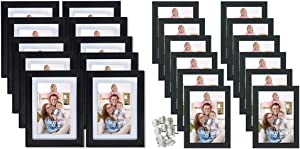 Giftgarden 12 Packs 4x6 Picture Frames Without Mat Bundling with 8 Packs 4x6 Frames with mat