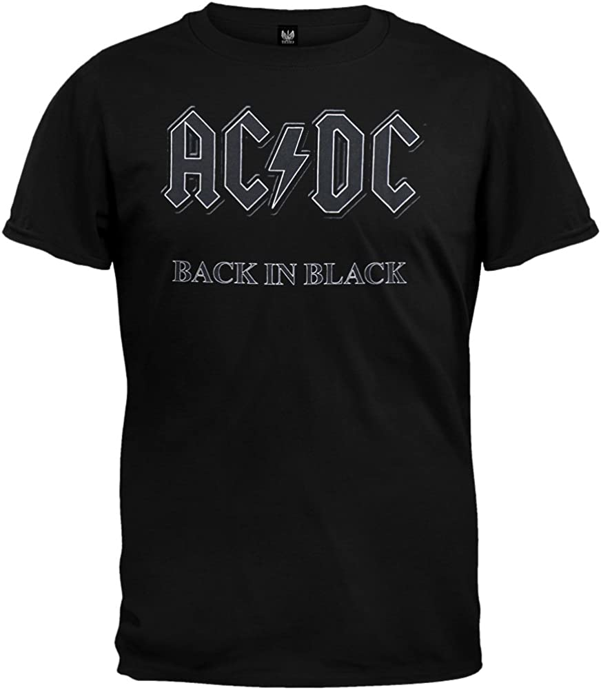 Impact Men's AC/DC Back In Black Short-Sleeve T-Shirt