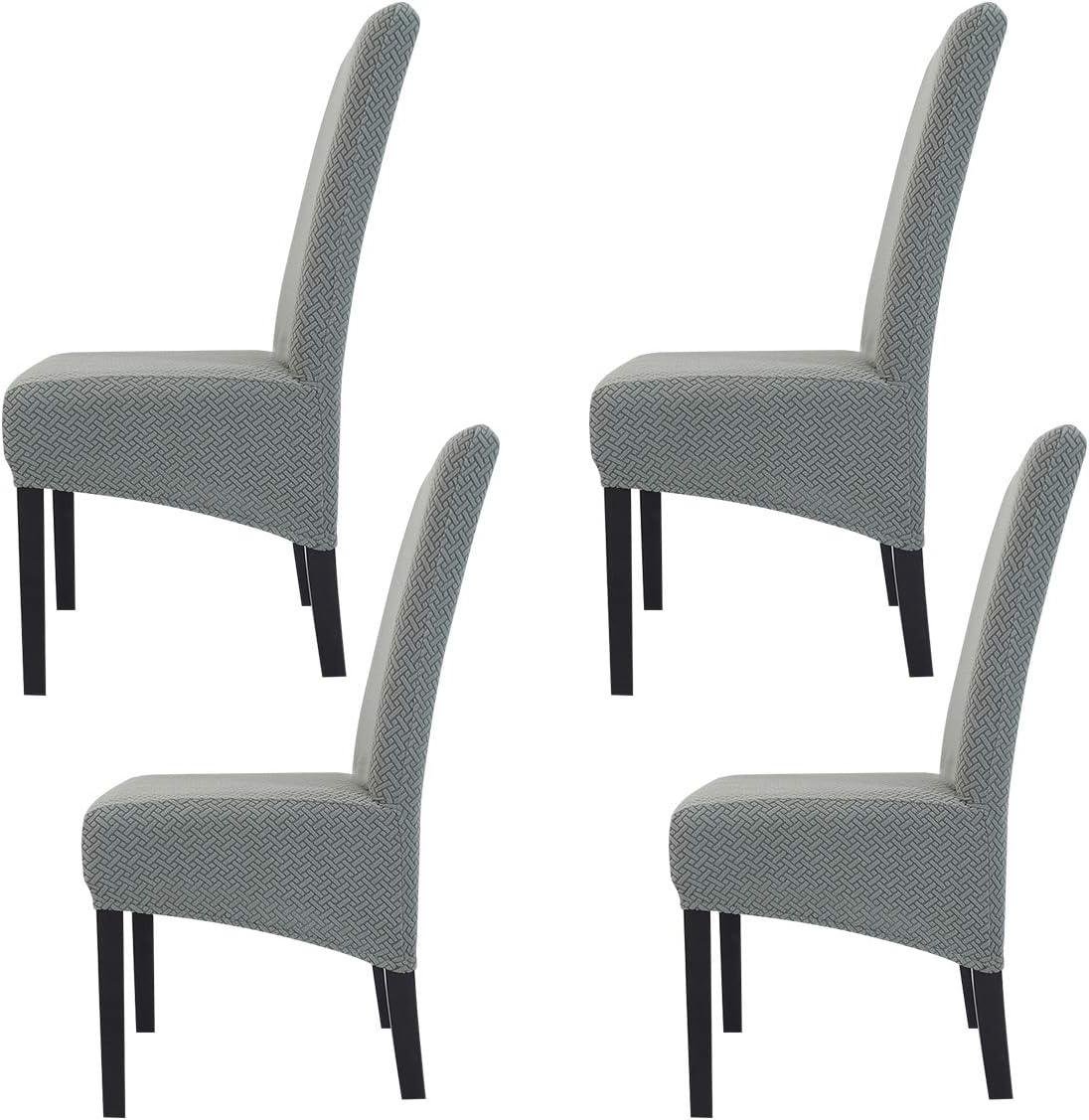 Fundas de Silla de Comedor El/ásticas y Modernas,Hengweiuk Fundas para sillas Pack de 4 6 Fundas sillas Comedor Lavable Extra/íble Comedor Extra/íble Funda,Duradera Modern Decor Restaurante