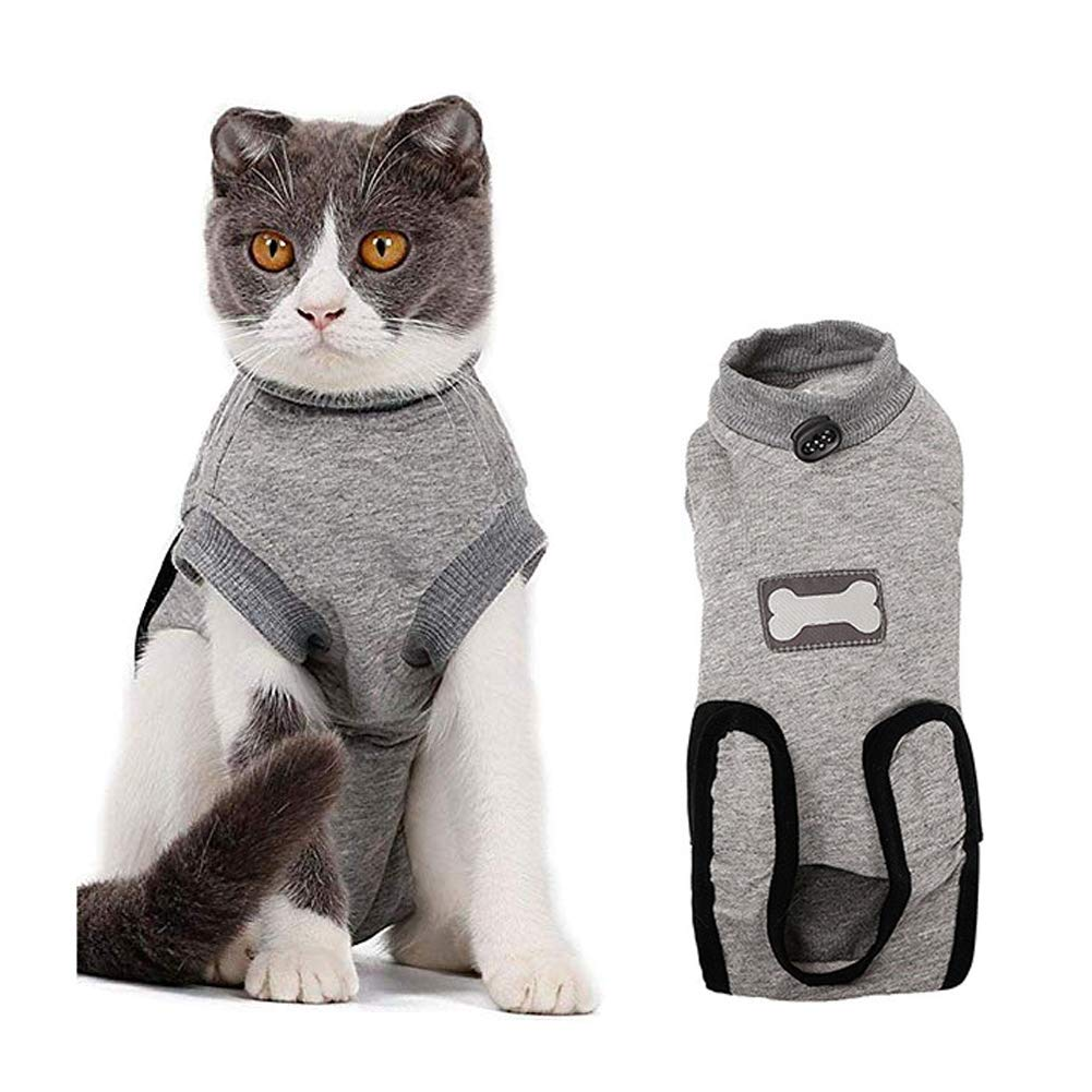 Luck Dawn Cat Recovery Suit, Elastic Cotton E-Collar Alternative to Protect Abdominal Wounds and Skin Disease (XXS) by Luck Dawn