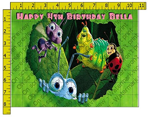 A Bug's Life Personalized Edible Frosting Image 1/4 sheet Cake Topper