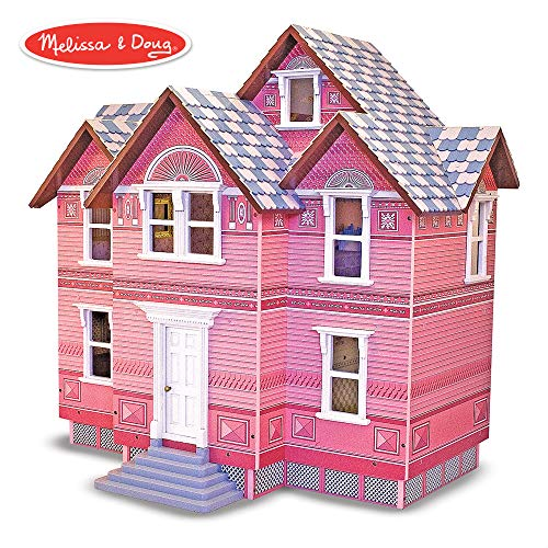 Babies Disney Scroll 14 - Melissa & Doug Classic Heirloom Victorian Wooden Dollhouse
