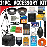 31 PC ULTIMATE SUPER SAVINGS DELUXE DB ROTH ACCESSORY KIT, INCLUDES FLASH, LENSES, FILTERS, ACCESSORIES AND MUCH MORE! FOR THE CANON POWERSHOT S2 IS, S3 IS, S5 IS DIGITAL CAMERAS
