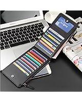 CHRONEX Women's Wallet clutch - Multi Card Organizer Wallet with Zipper Pocket