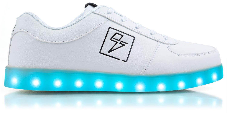 Light Up Shoes - Bolt Low Top, 12 D(M) US White
