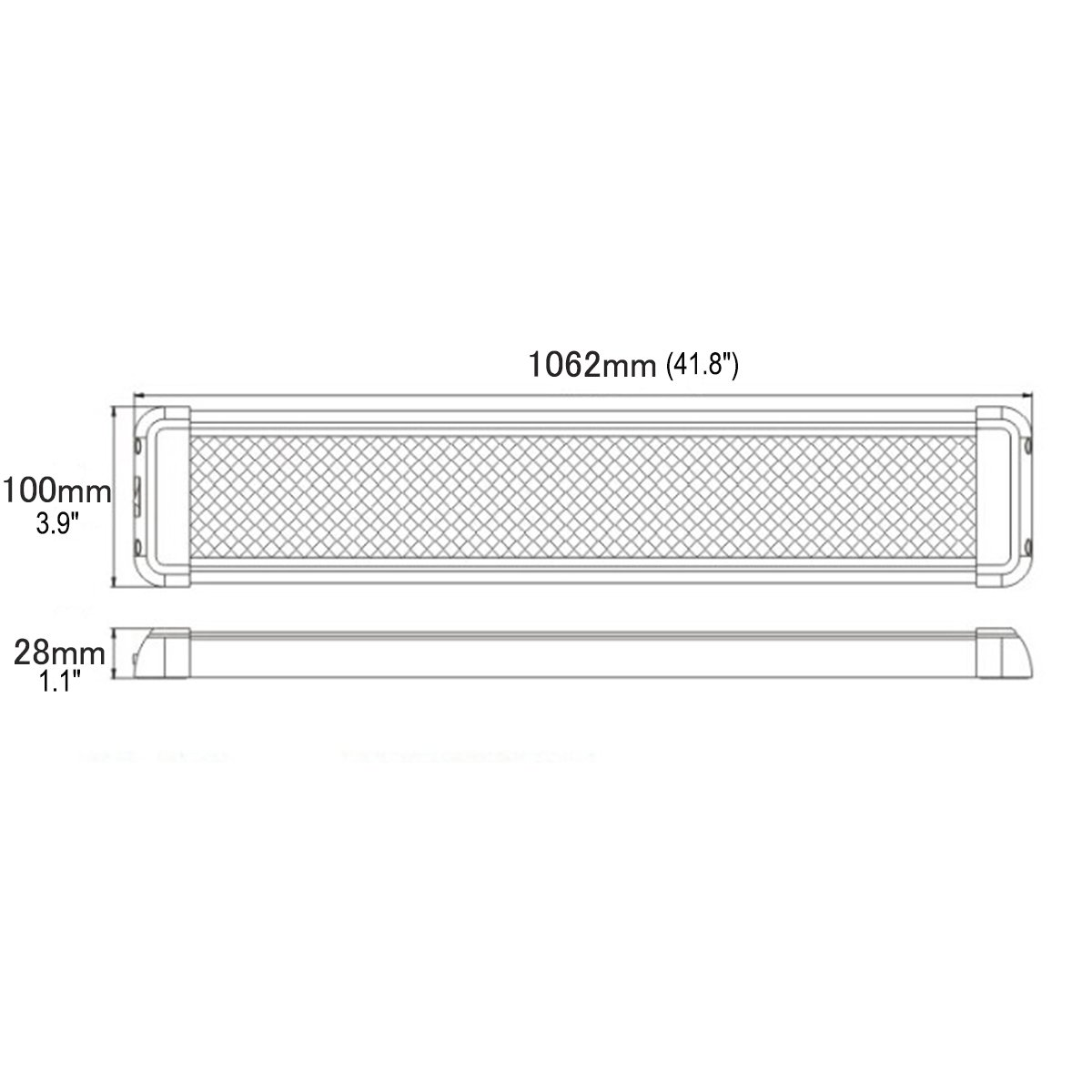 lightronic 41.8 Inches 60W LED Interior Dome Light Fixture Fit for RV, UTV and Boats by lightronic (Image #5)