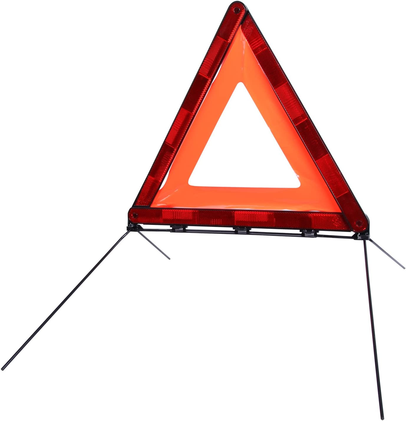 CARTMAN Foldable Warning Triangle Emergency Warning Triangle Reflector Safety Triangle Kit 3-Pack with Storage Case