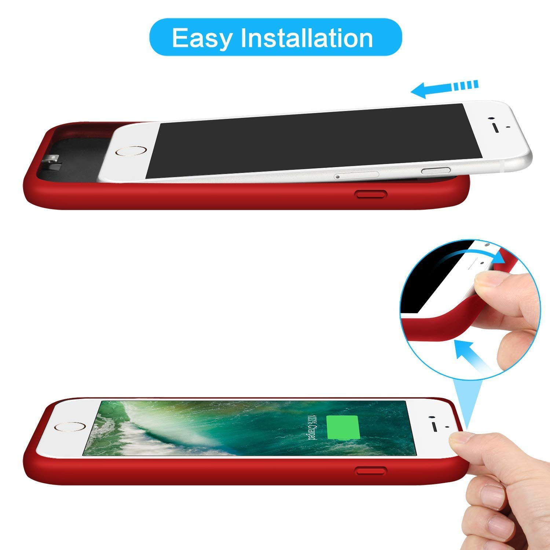 Battery Case for iPhone 6s Plus// 6 Plus// 7 Plus// 8 Plus 8500mAh Rechargeable Charging Case for iPhone 6Plus Battery Pack Apple 6s Plus Portable Power Bank 7Plus 8Plus