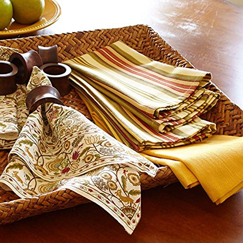 Artisan Crafted in India Smart Seller Point Handmade Concave Wood Napkin Ring Set with Napkin Rings