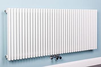 Designheizkörper Designer Heizung Vertikal 500x1200 mm Weiß: Amazon ...