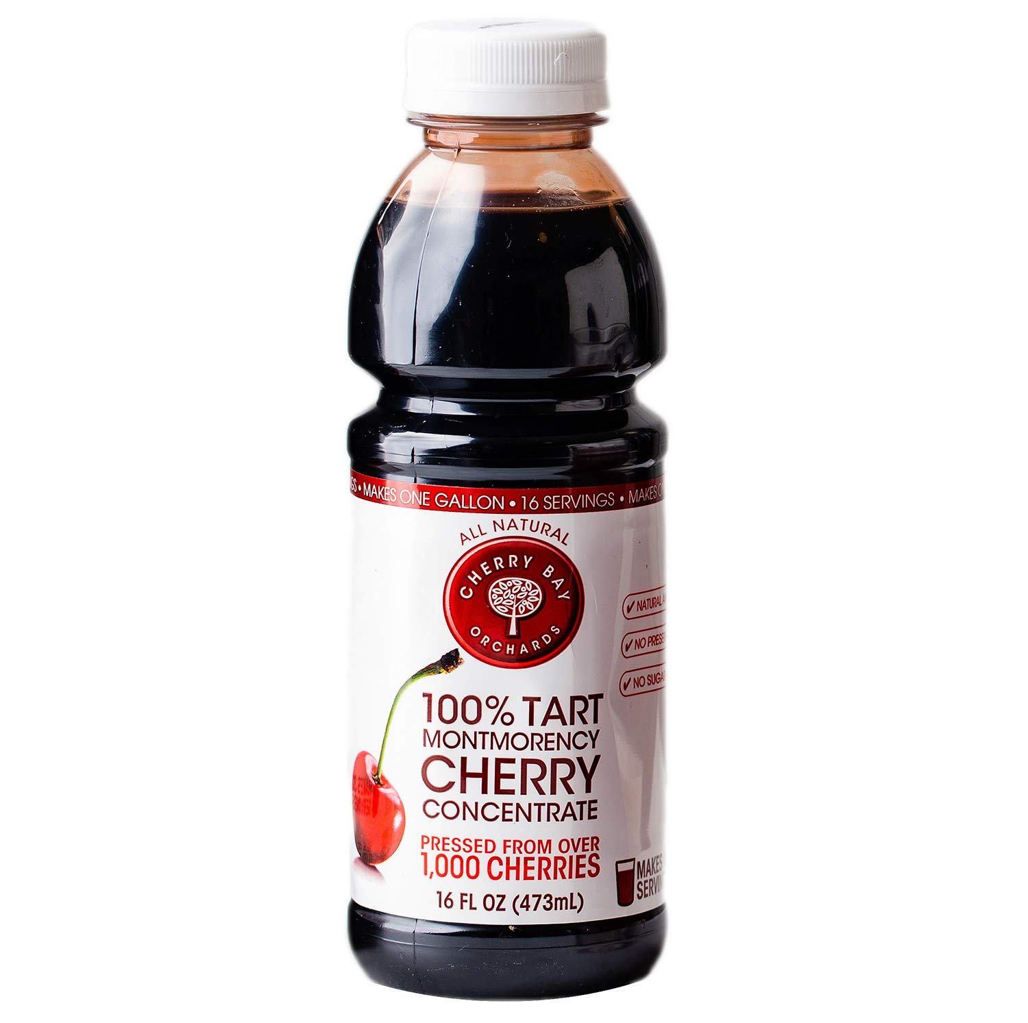Cherry Bay Orchards Tart Cherry Concentrate - Natural Juice to Promote Healthy Sleep, 16oz Bottle