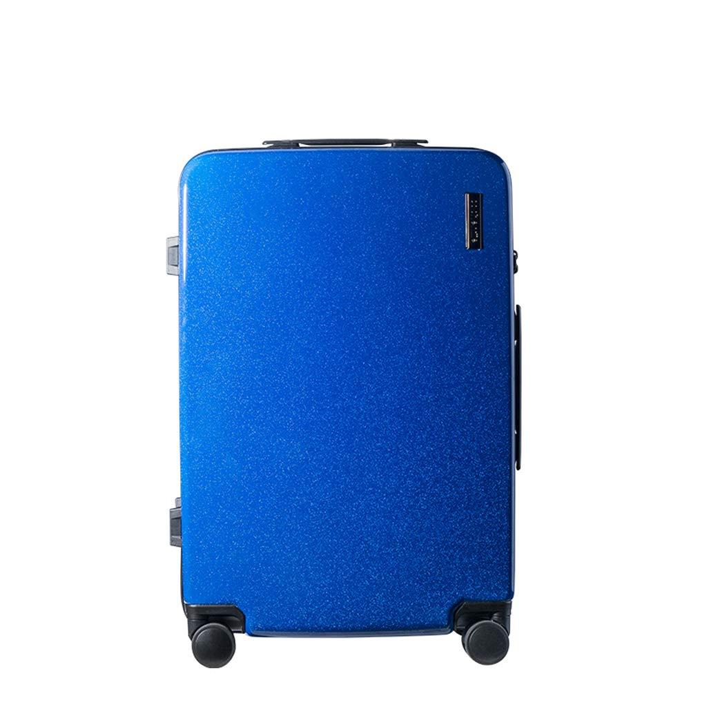 少女新鮮なスーツケーストロリーケースカレッジのパスワードボックス20インチ/ 24インチトロリーケース (色 : 青, サイズ さいず : 24inch) 24inch 青 B07L6D61H4