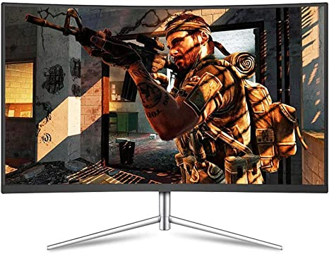 WANG XIN 32 Pulgadas 2K Pantalla de Monitor LCD de computadora Curvada para Comer Pollo Pantalla Grande HDMI: Amazon.es: Deportes y aire libre