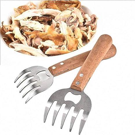 EqWong Juego de Garras para Parrillas de Barbacoa para Carne ...