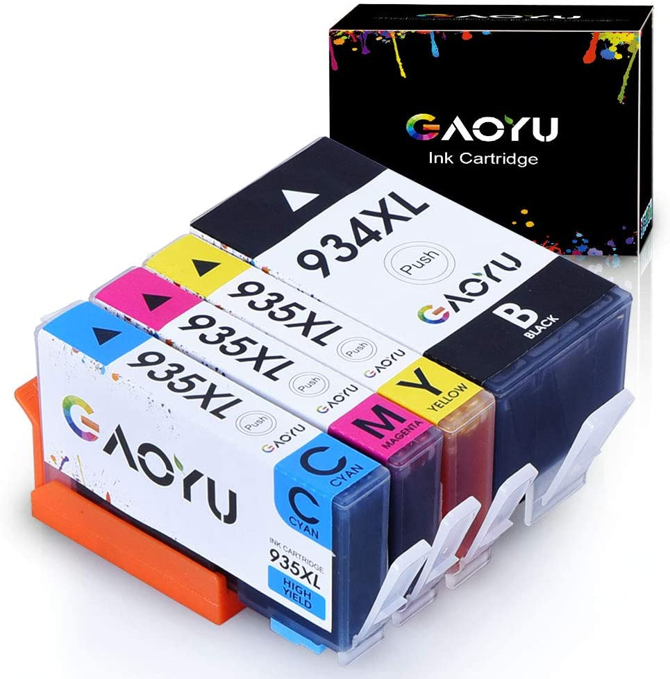 GAOYU 934XL 935XL Compatible Ink Cartridge Replacement for HP 934XL 935XL 934 935 Work with HP Officejet Pro 6830 6230 6815 6812 6835 6820 6220 Printer (1 Black 1 Cyan 1 Magenta 1 Yellow, 4 Pack)