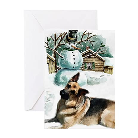 Amazon cafepress german shepherd greeting card 10 pack cafepress german shepherd greeting card 10 pack note card with m4hsunfo