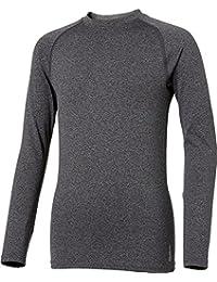 Boys' Cold Weather Compression Heather Crewneck Long Sleeve Shirt