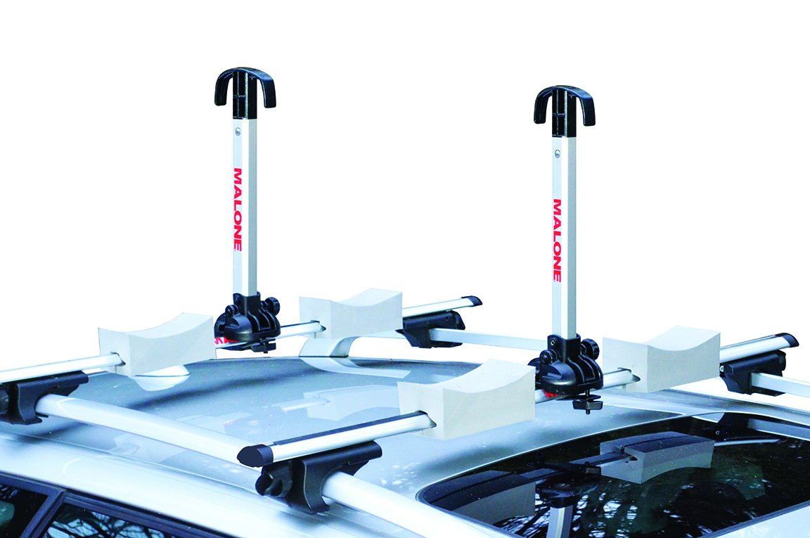 Malone Stax Pro2 Universal Car Rack Folding Kayak Carrier (2 Boat Carrier) by Malone