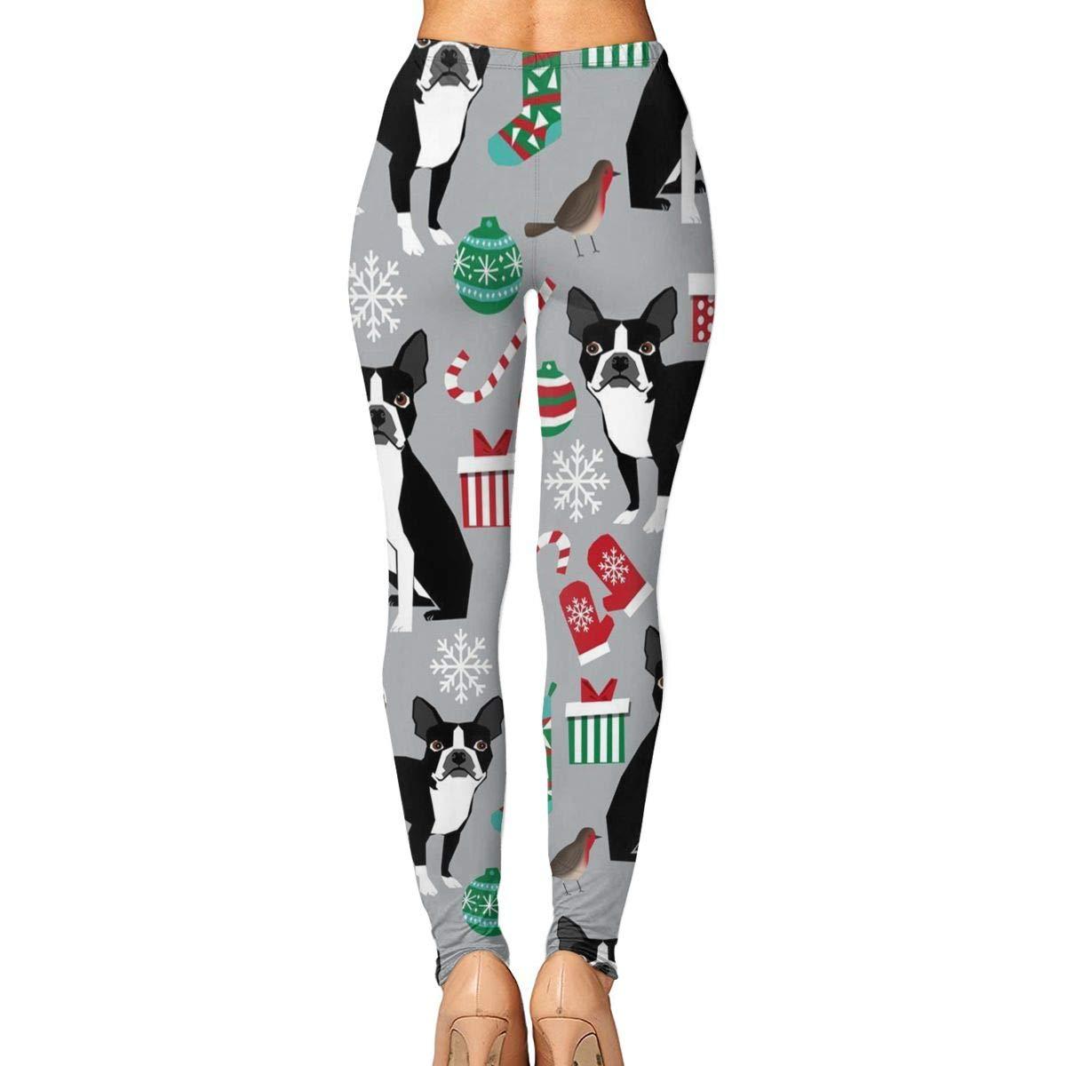 c135415df3bdf5 Amazon.com : Xayeu Cute Boston Terrier Christmas Yoga Pants for Women Sport  Tights Workout Running Leggings : Sports & Outdoors
