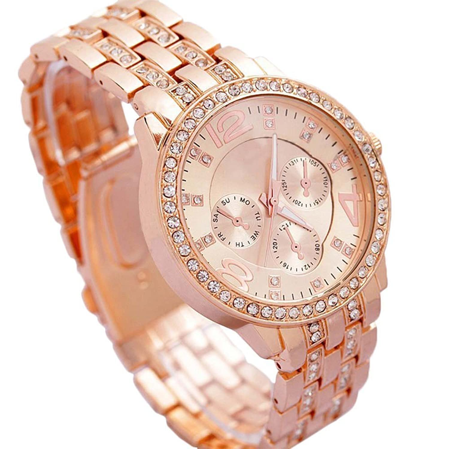 fpx jesse steel rose product tone shop bracelet womens women fossil watches s watch gold stainless macy jewelry