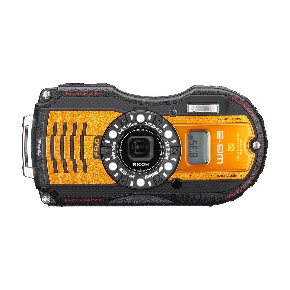 RICOH waterproof digital camera WG-5GPS orange waterproof 14m withstand shock 2.2m cold -10 degrees 04662