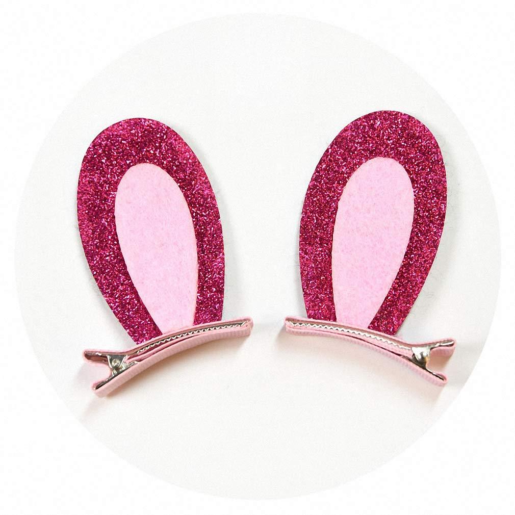 Hair Clips For Girls Kids Hair Cat Ears Accessories Glitter Rainbow Hairpins