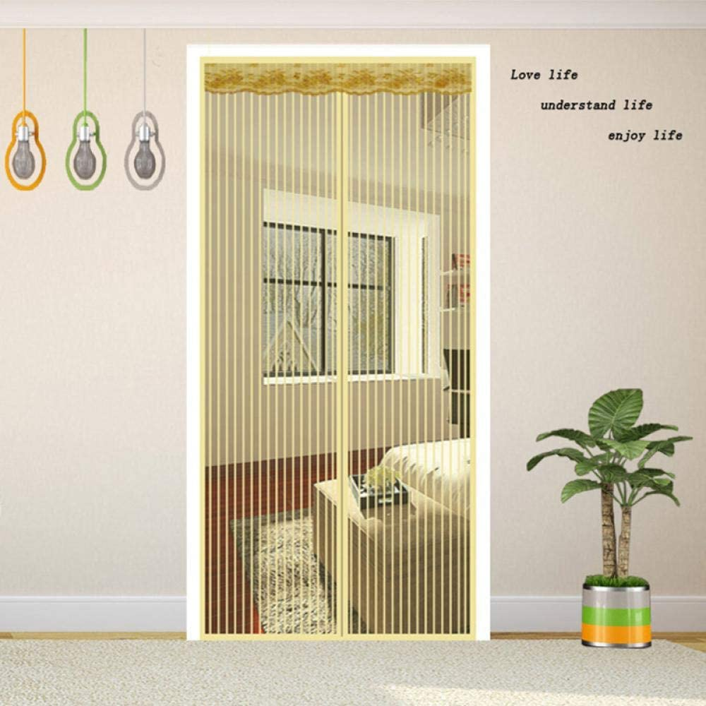XTMM Magnetic Screen Door Summer Magnetic Mesh Net Anti Mosquito Insect Fly Bug Curtain Automatic Closing Door Screen Kitchen Curtain Drop 80X200Cm A