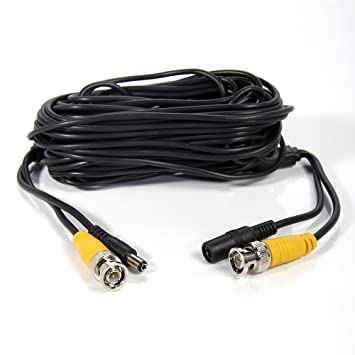 cctv security camera cable surveillance wire video bnc cord power