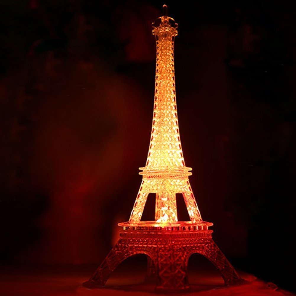Amazon.com: 10 Inch LED Light Up Eiffel Tower, Built-in Color ...