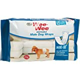 Four Paws Wee-Wee Products Disposable Male Dog Wraps (12 Pack)