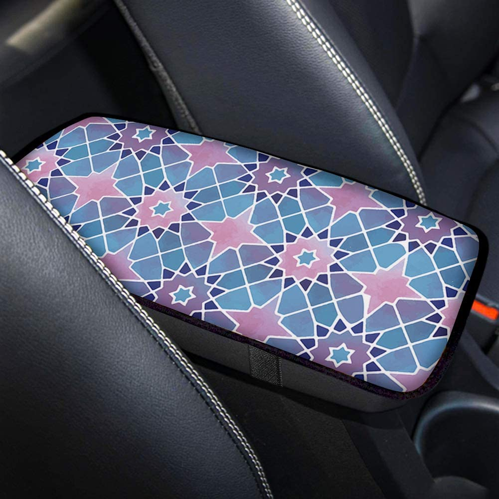 Dreaweet 4PCS Cactus Alpaca Printed Universal Auto Interior Protector with Seat Belt Pad//Center Console Armrest Pad//Steering Cover-6-Pack