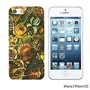 OnlineBestDigital - Flower Pattern Hardback Case for Apple iPhone 5S / Apple iPhone 5 - Retro Floral Texture