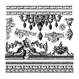 Prima Marketing 814366 Friffery Iron Orchid Designs Decor Stamps, Clear
