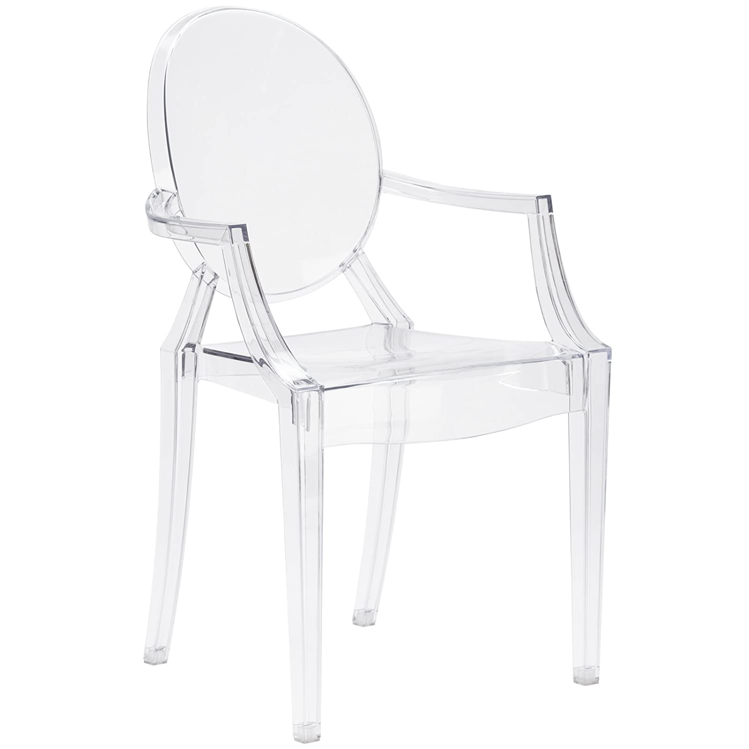 Poly and Bark Burton Arm Chair in Clear (Set of 4) EM-103-CLR-X4