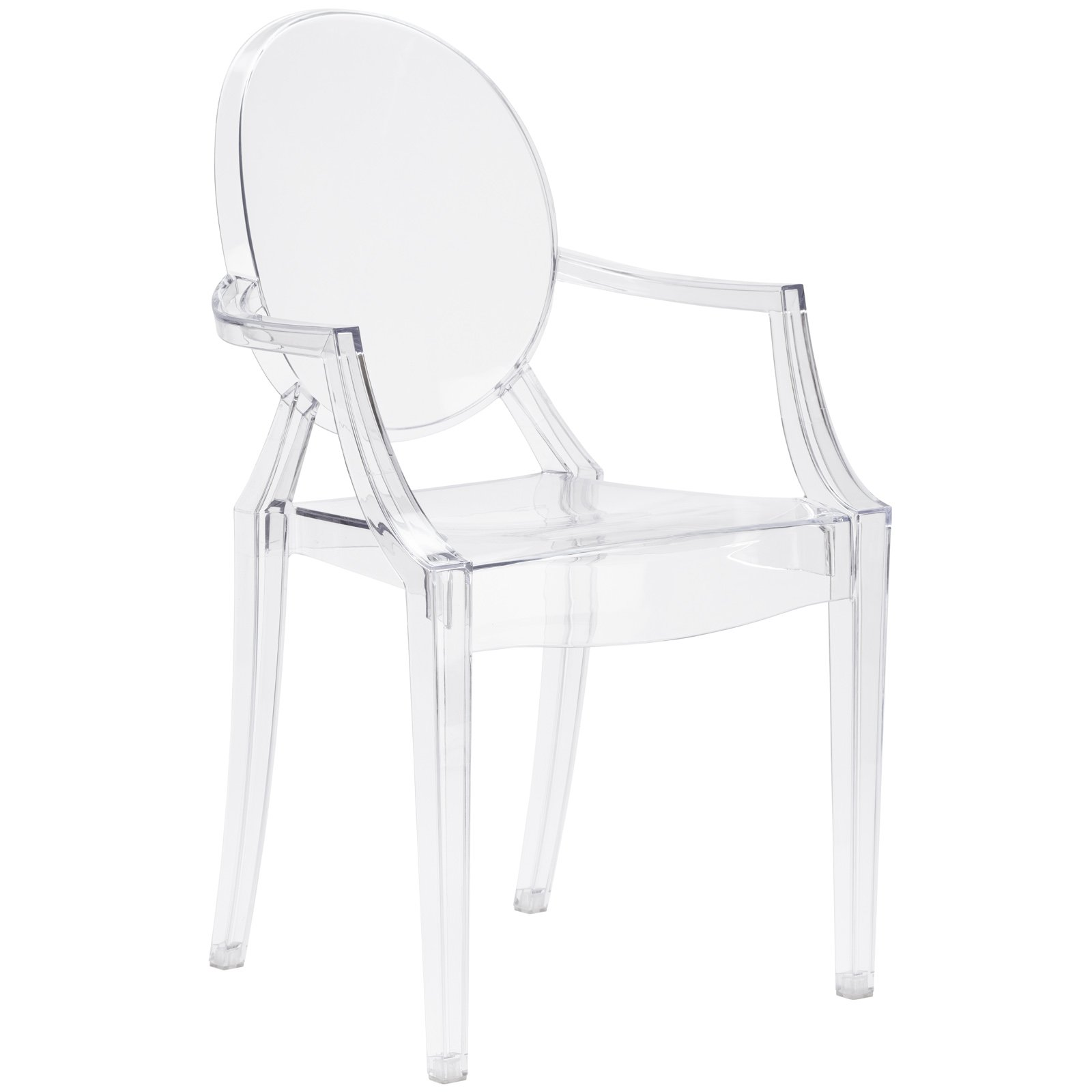 Poly and Bark Burton Arm Chair in Clear (Set of 4) by POLY & BARK (Image #2)