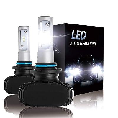 9006 (HB4) LED Headlight bulbs CSP Conversion kits 10000LM Xenon White Hi/Low Beam Headlamp Bulbs (2-Pack): Automotive