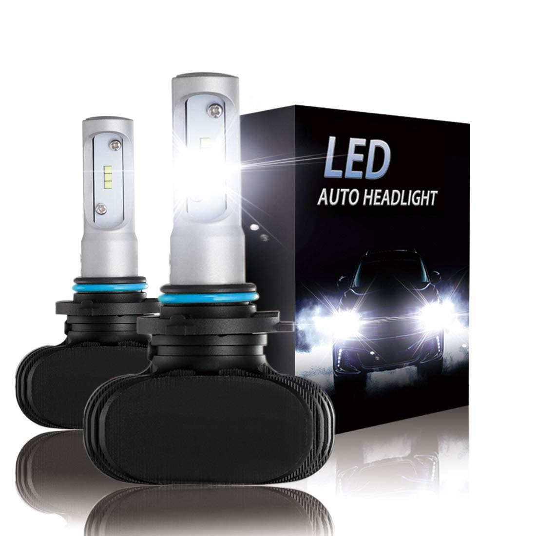 2-Pack H7 LED Headlight bulbs CSP Conversion kits 10000LM Xenon White Hi//Low Beam Headlamp Bulbs