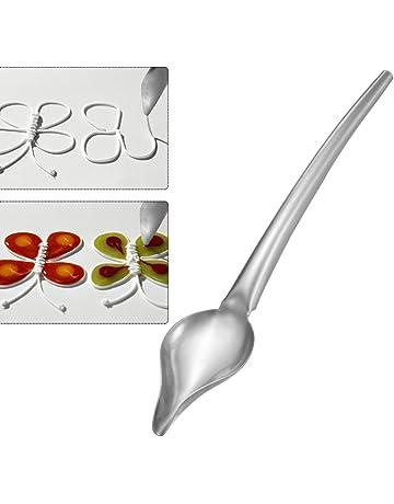 ABEDOE Cuchara de Chocolate de Acero Inoxidable, Cocina de Lápiz Salsa de Filtro Cuchara de