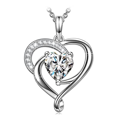 4783ba0d572c7 PN PRINCESS NINA 925 Sterling Silver ❤️Tender Love❤ AAAA Cubic Zirconia Pendant  Necklace