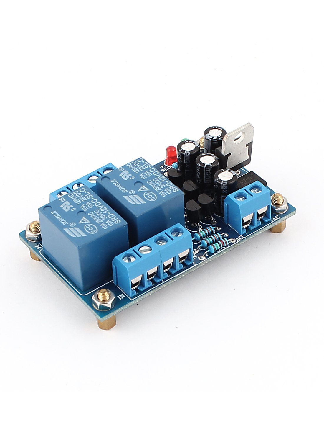 Dc 12v 18v Power Amplifier Speaker Protection Module Circuit Board Attached To A Small Piezo And Powered By Two Aa Blue Electronics