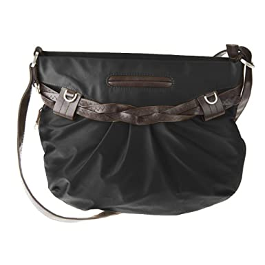 Amazon.com: Travelon Nylon Shoulder Bag with Braided Belt Detail ...