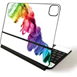 MightySkins Skin for Apple Magic Keyboard for iPad Pro 11-inch (2020) - Rainbow Smoke   Protective, Durable, and Unique…