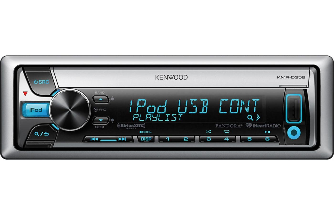 Amazon.com: Kenwood KMR-D358 Marine CD Receiver with Font USB and AUX-IN:  Car Electronics