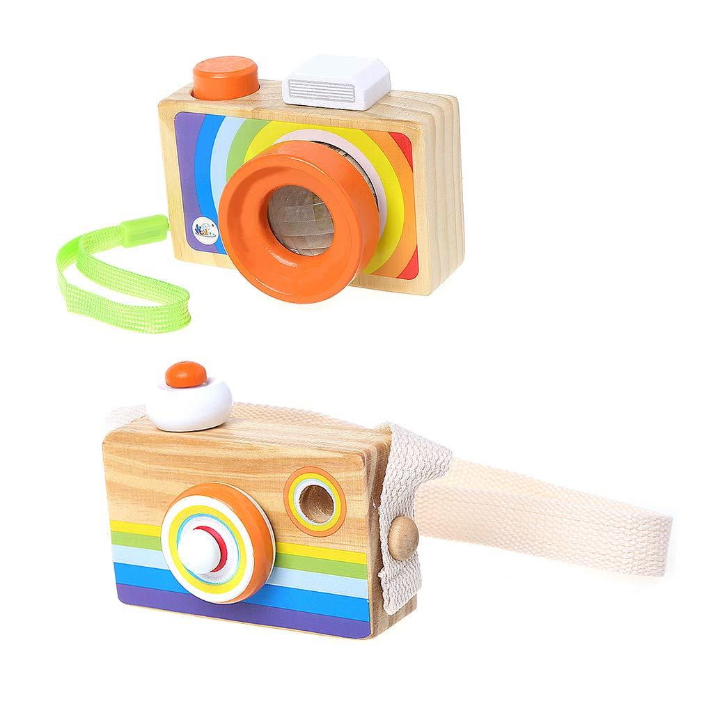 Vivianu - Mini cámara réflex de juguete de madera, juguetes de ...