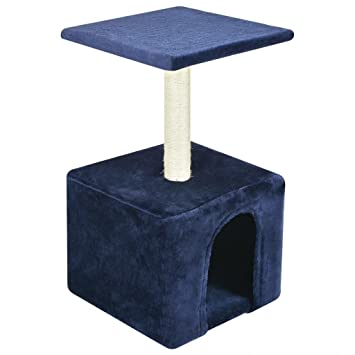 vidaXL Poste Rascador para Gatos Altura 55 cm Alfombra de Felpa Color: Azul: Amazon.es: Hogar