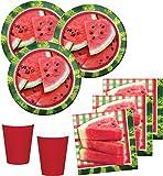 48 Teile Wassermelone Party Deko Set für 16 Personen